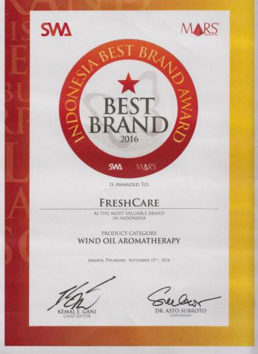 Indonesia Best Brand Award 2016